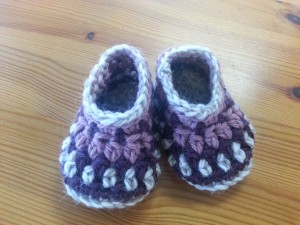 Galilee Booties, designed by Tara Murray, crochet by me!